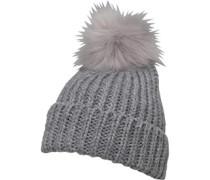 Rippenstrick Beanie Mütze