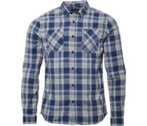 Firetrap Mens Fetlar L/S Check Shirt Carbon/Grey