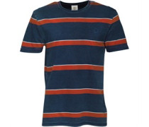 Herren Taunton River Indigo Sailors T-Shirt Denim Meliert