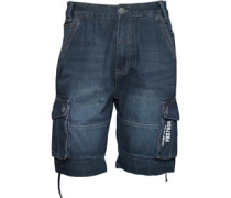 Firetrap Herren Eleko Cargo Shorts Blau