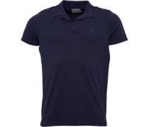 Herren Notch Neck Polohemd Navy