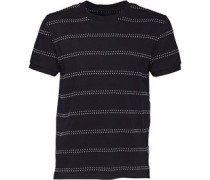 Herren Mount Dot Stripe T-Shirt Navy