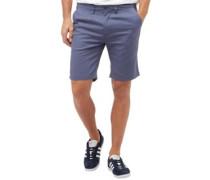 Herren Slub Oxford Smart Shorts Blau