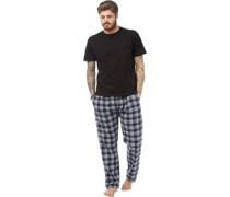 Herren Loungewear-Set Schwarz