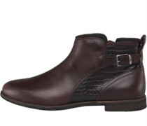 Demi Croc Ankle Stiefel Rot-Braun