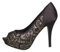 Little Mistress Womens Peep Toe Shoes Gold