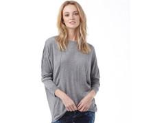 Bench Damen Pullover mit Rundhalsausschnitt Grau