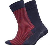 168SF Cut Vintage Stripe Socken Navy