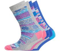 Damen Five Socken Mehrfarbig