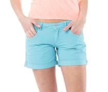 Damen Boyfriend Denim Shorts Aquamarine
