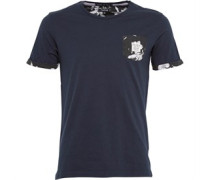 Firetrap Herren Aiden T-Shirt Schwarz