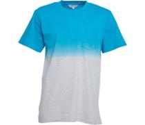 Kangaroo Poo Herren Ombre T-Shirt Blau