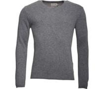 Herren Lambswool Mix Pullover mit V-Ausschnitt Graumeliert