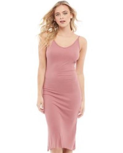 Rib Kleid Rosa