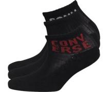 Converse Junior Three Pack Socks Black