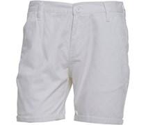 Herren Twill Chino Shorts Weiß