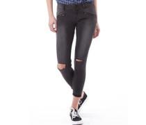 Herren Leila Super Skinny Capri Jeans Schwarz