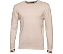 French Connection Mens Contrast Cuff Knit Top Stone
