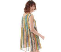 Damen Cressy Smock Kleid Mehrfarbig