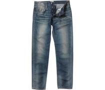 Edwin Herren ED-55 11.25oz Oiler Wash Jeans in lose Passform Blau