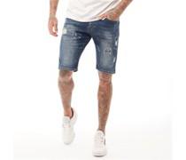 Batley Denim Shorts Dunkel