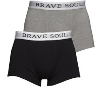 Mens Ali Two Pack Boxers Grey/White