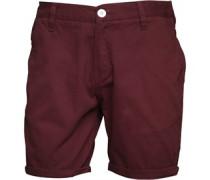 Herren Twill Shorts Rot
