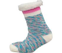 Damen Sherpa Liniert Bett Socken Mehrfarbig