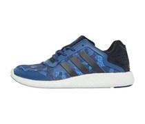 adidas Herren PureBoost Camo Rich Clear Sneakers Blau