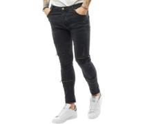 Herren Elba Skinny Jeans Schwarz