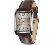 Herren Quartz Armbanduhr Braun