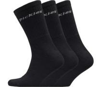 Dickie Drei Pack Socken Schwarz