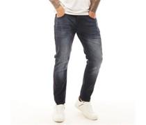 Maylead Jeans in Slim Passform  Schwarz