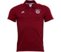 adidas Mens FCB Bayern Munich 3 Stripe Polo True Red