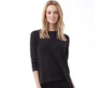 Damen Base Pullover mit Rundhalsausschnitt Schwarz