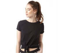 Damen Girl Crop T-Shirt Schwarz