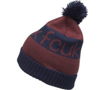 French Connection Herren Jacquard Bobble Beanie Mütze Rot