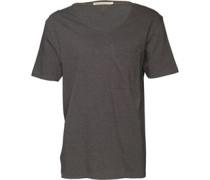 Nudie Jeans Herren T-Shirt Dunkelgraumeliert