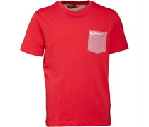 Ben Sherman Junior Dogtooth Pocket T-Shirt Rosso Red