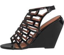 Little Mistress Damen Gladiator Wedge Sandalen Schwarz