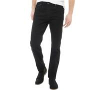 Herren Denim Jeans mit geradem Bein Schwarz