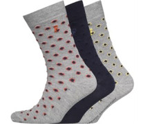 French Connection Herren Geo Socken Mehrfarbig