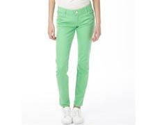 Damen Jeans in Slim Passform Grün