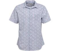 Herren Floral Hemd mit kurzem Arm Weiß