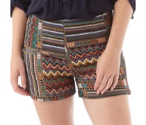 Brave Soul Damen A Embroide Shorts Mehrfarbig