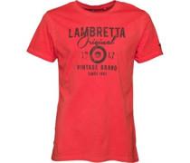 Herren Vintage Wash Original T-Shirt Rot