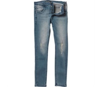 Brave Soul Mens Rex Skinny Fit Jeans Blue Wash