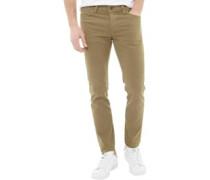Herren Glenn Fox AKM 360 Jeans in Slim Passform Olivengrün