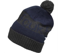 Herren Jacquard Bobble Beanie Mütze Blau