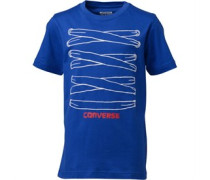 Converse Junior All Laced Up T-Shirt Blue